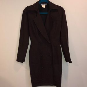 Vintage Thierry Mugler Burgundy Blazer Dress Sz 38